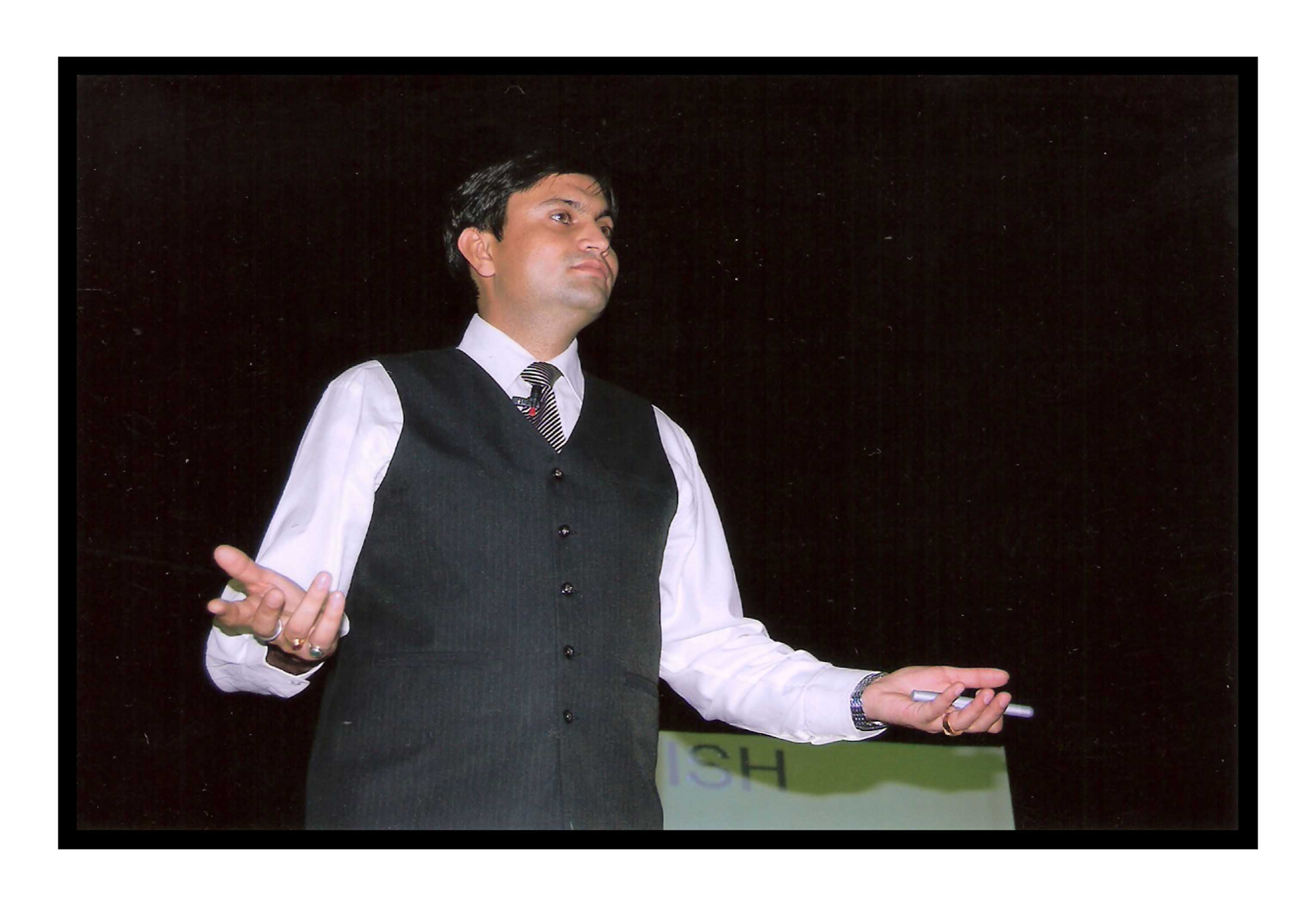 Krishan chahal during memory boosting program