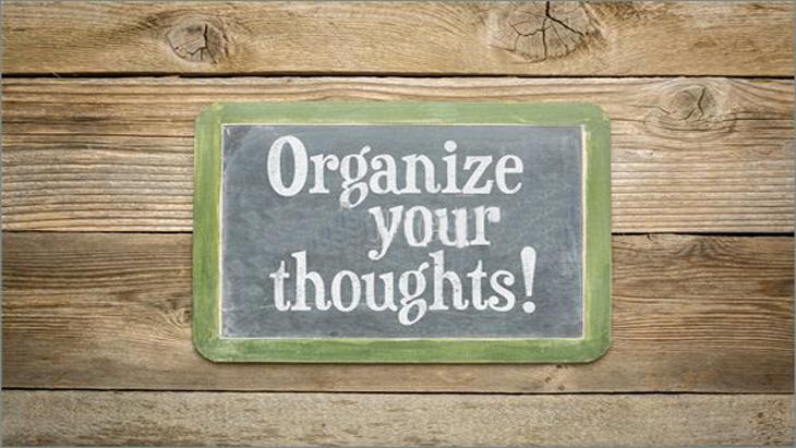 अपने विचारों को व्यवस्थित कैसे करें
